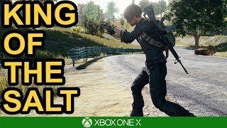 SALTY PLAYER CALLS HACKS / PUBG Xbox One X