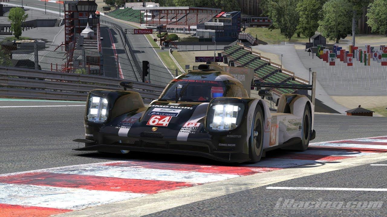 Iracing Porsche 919 Hybrid Lmp 1 Spa Onboard Tv Replay Youtube