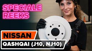 Hoe een vooraan remschijven op een NISSAN QASHQAI (J10, NJ10) [HANDLEIDING AUTODOC]