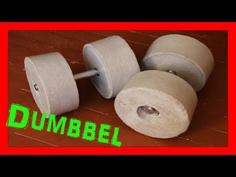 How To Make Homemade Weights ( DIY Dumbbell )