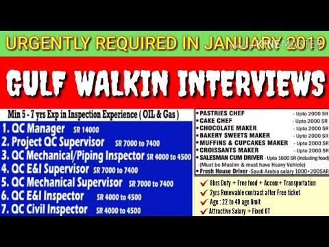 FREE GULF JOBS WALKIN INTERVIEWS IN INDIA - KUWAIT/ KSA/ QATAR Get Salary upto Rs.37,000 to 1,63,000