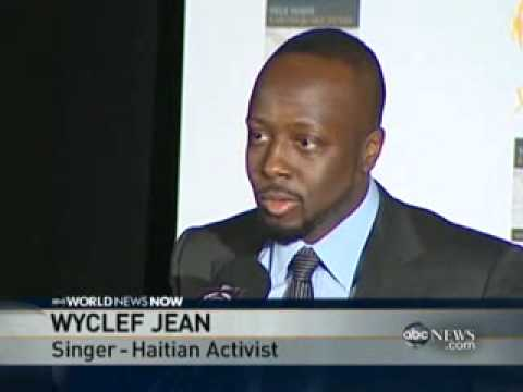 Wyclef Jean  in Tears Over Haiti .