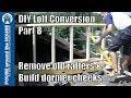 Loft conversion Part 8 - Build dormer cheeks & remove old rafters. Dormer cheek construction!!