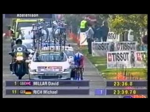 UCI ROAD WORLD CHAMPIONSHIPS 2002 Elite Mens Time Trial Santiago Botero (Colombia)