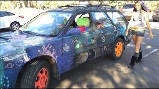 A Tour of my Chalkboard Art Car!