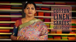 LATEST LINEN SAREES COLLECTION