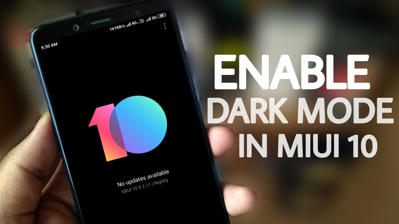 How to Enable Dark mode in MIUI 10 - No Themes Required | only beta users