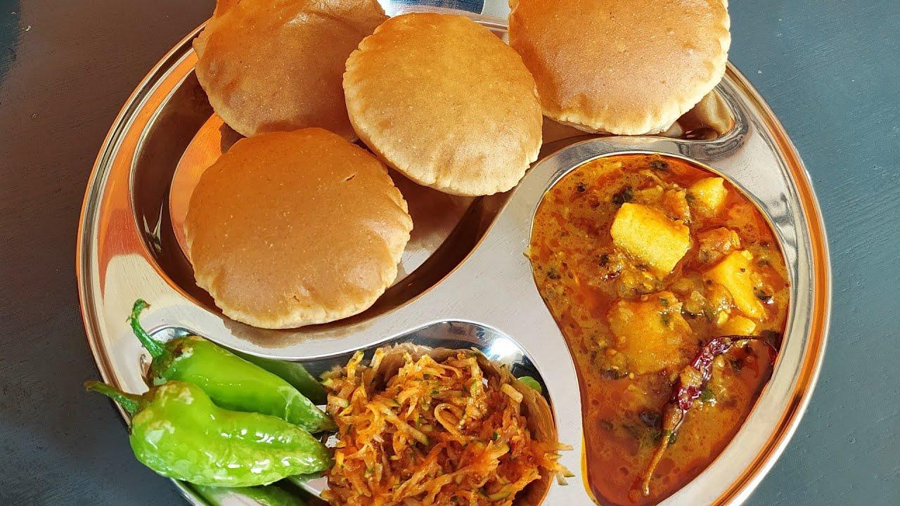 Halwai Style Aloo Bhaji And Soft Puffy Poori | How To Make Crispy Fluffy Puri and Potato Curry