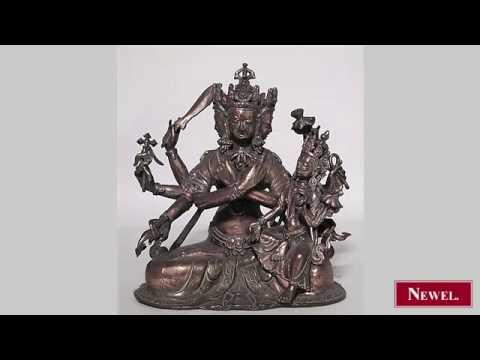Antique Oriental Indian style (20th Cent) bronze figure