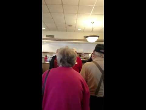 American pride at San Antonio Jim's Coffee Shop.