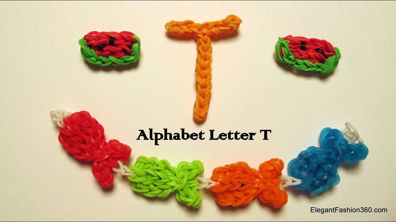 watch make how alphabet bands loom on to rainbow letter c youtube