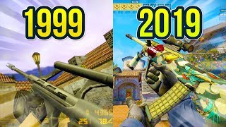 Evolution of the AUG in Counter Strike on Inferno Map 1999 - 2019 / Видео