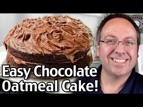 Easy Chocolate Oatmeal Cake Recipe! Yummy Chocolate Cake!