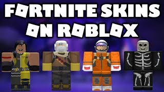 Roblox Fortnite skins Showcase!