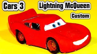 Pixar Cars 3 Custom Lightning McQueen Diecast with Fabulous Miss Fritter and Crazy 8 Racers