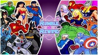AVENGERS vs JUSTICE LEAGUE (Marvel vs DC Comics Animation) | RUMBLE REWIND