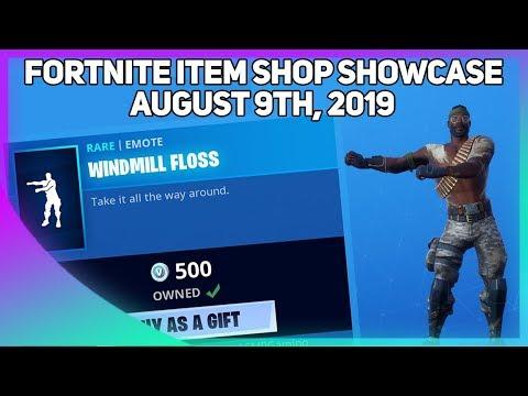 Fortnite Item Shop *NEW* WINDMILL FLOSS EMOTE! [August 9, 2019] (Fortnite Battle Royale)