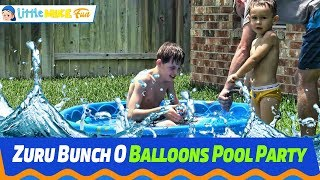 ZURU BUNCH O BALLONS | Summer home pool party 2018 | Little Mike Fun