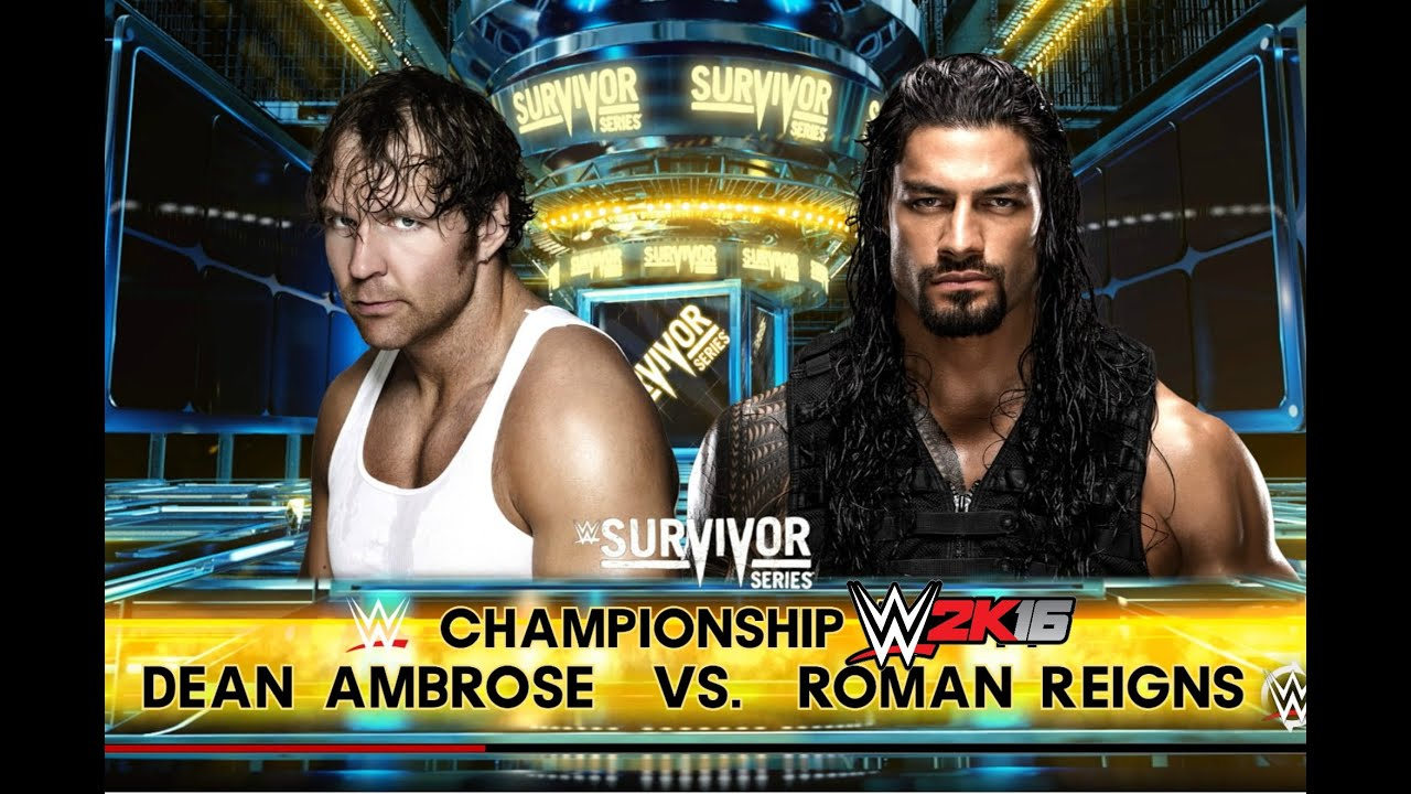 shows survivorseries roman reigns dean ambrose world heavyweight championship match photos