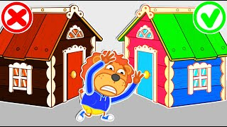 Lion Family | Pretend Play with Playhouse for kids | Cartoon for Kids
