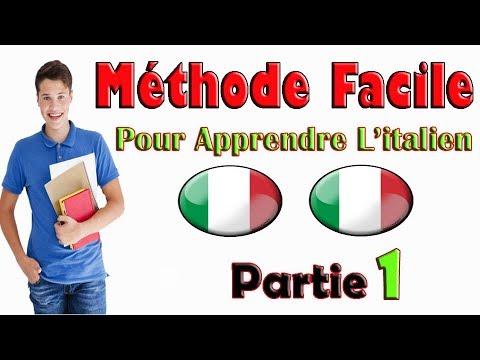 Mèthode Facile pour Apprendre L'italien pour débutants, phrases frençais et italien, Partie: 1