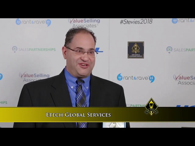 Etech Global Services wins Stevie® Award   Business Intelligence Solution Category   2018