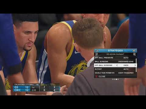 NBA LIVE 18: Warriors At Thunder - FULL GAME