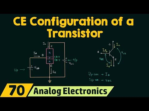 Common-Emitter Configuration of a Transistor