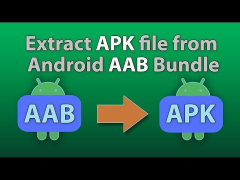 How To Extract An APK File From An AAB File