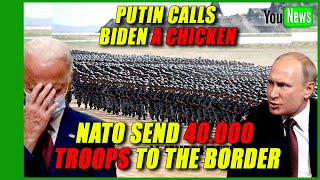 NATO SEND 40.000 TROOPS TO THE BORDER! Russia accuses US, NATO of moving troops to its border.
