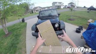 Rear bumper with tire carrier unboxing for the 2007-2017 Jeep Wranlger JK - YitaMotor.com GetJeeping