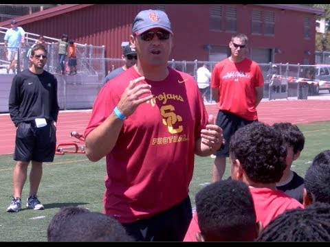 FOOTBALL: USC Head Coach Steve Sarkisian at the Prime Time P