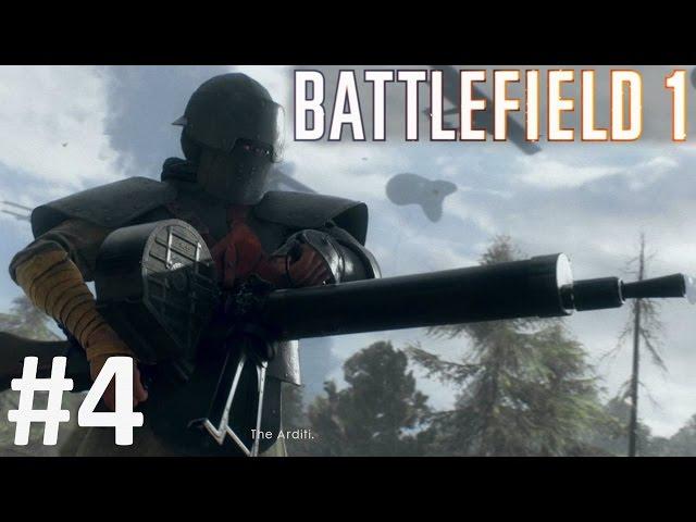 BATTLEFIELD 1 Gameplay Walkthrough Part 4 BF1 War Stories Single Player