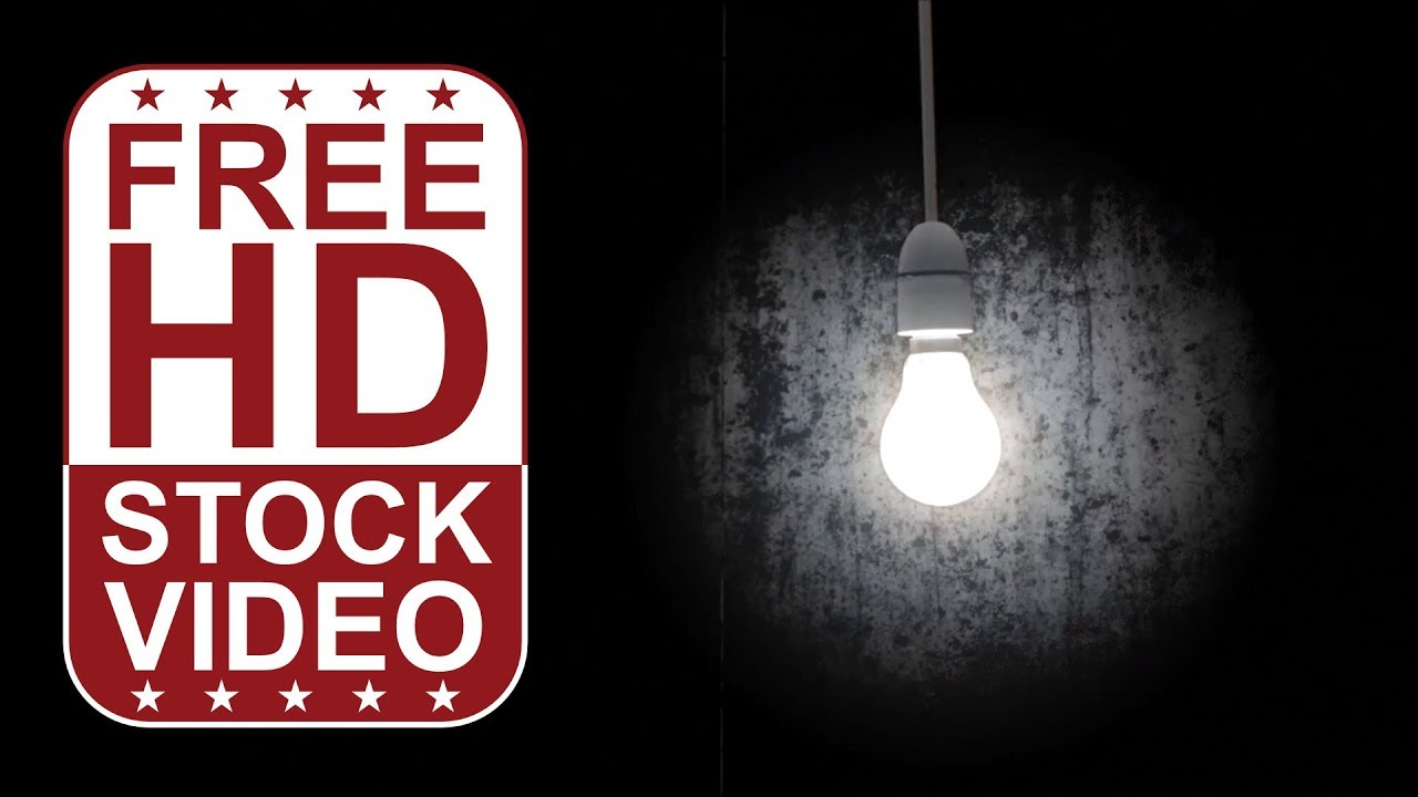 FREE HD themed title backgrounds – bright lamp in dark room moving ... for Black Light Bulb Room  lp5fsj