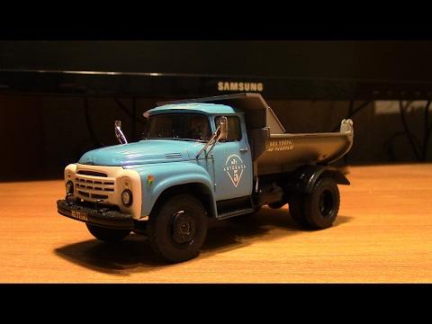 Итог сборки масштабной модели грузовика ЗиЛ ММЗ 555