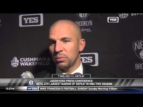 Postgame: Jason Kidd Interview | Nets vs Timberwolves | November 22, 2013 | NBA 2013-2014 Season