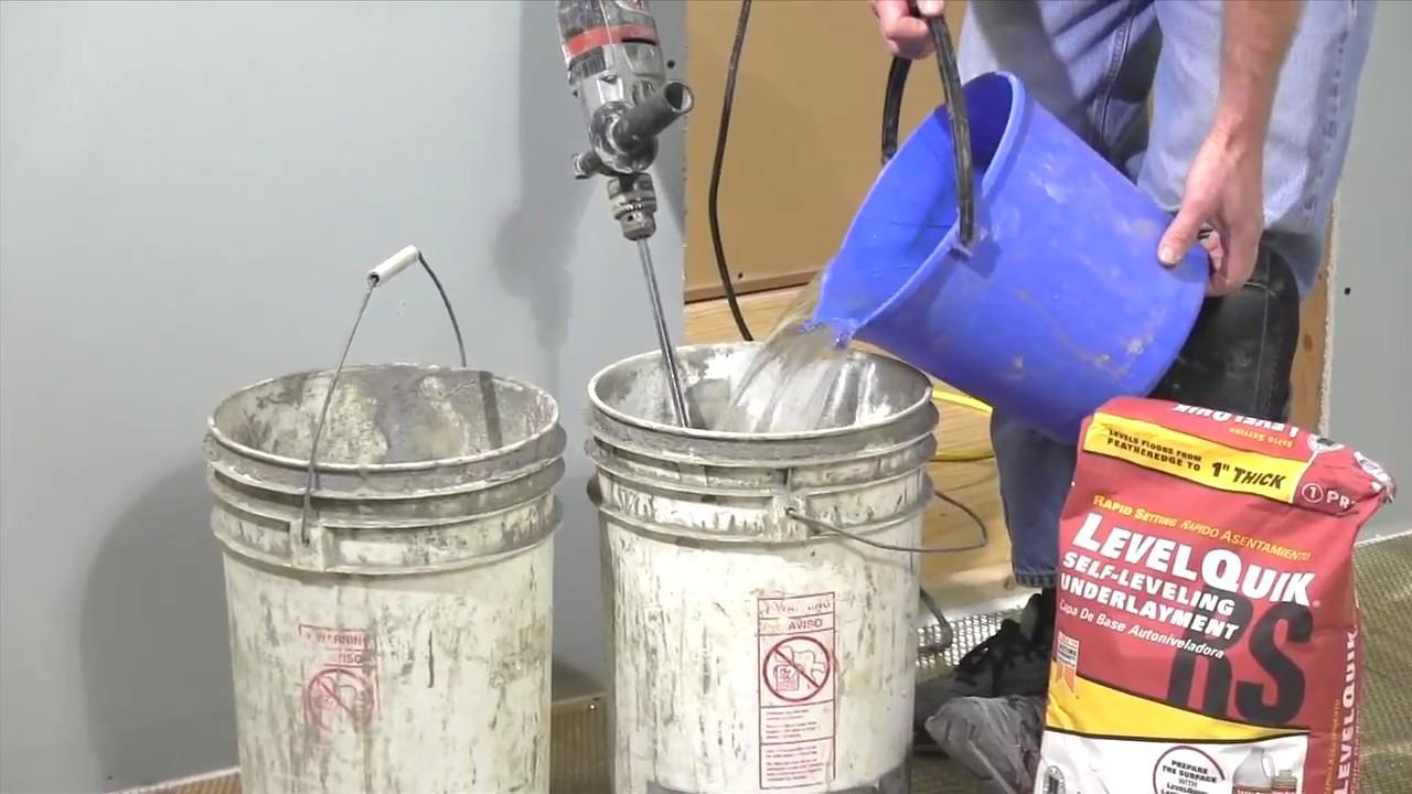 Pouring Floor Leveler For Uneven Floors Youtube