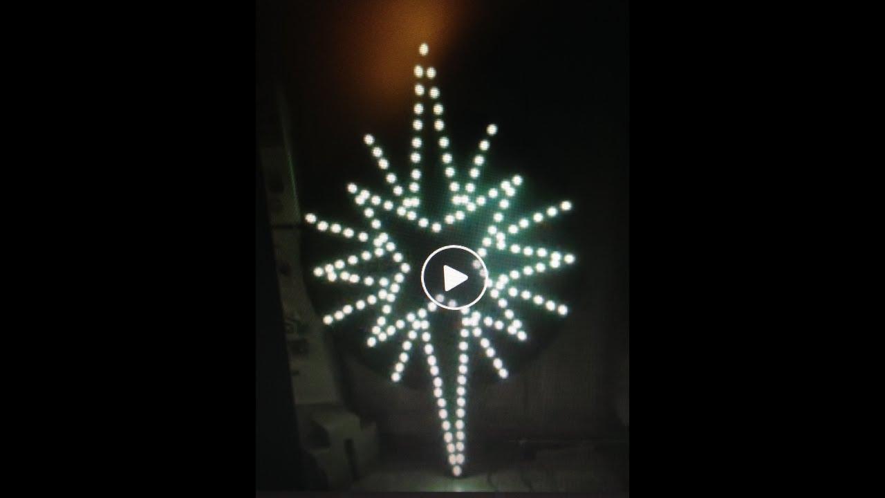 Faire une toile lumineuse de no l youtube - Comment fabriquer une enseigne lumineuse ...
