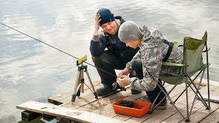 Фидер для начинающих - Глебус познает основы фидера! Наша первая рыбалка с сыном на ФИДЕР!