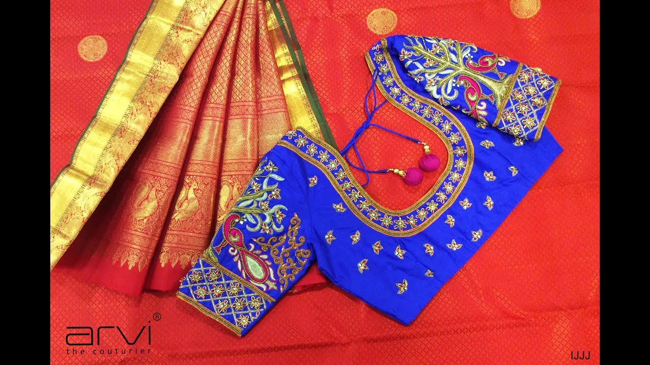 Latest Aari Embroidery Work Saree Blouse Designs Youtube