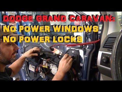 Dodge Grand Caravan: No Power Window No Power Locks - CAN Trouble