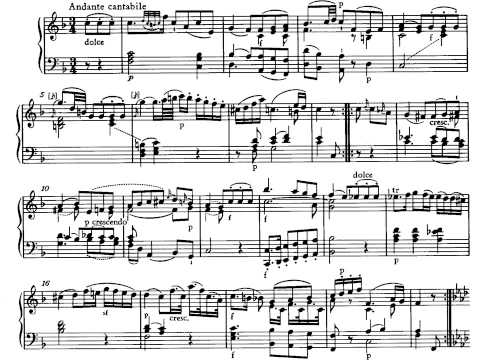 Mozart. Sonata par piano nº 10 Kv 330 II Andante cantabile