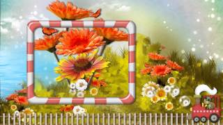 Шаблон для детского слайд шоу Паровозик