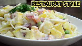 How To Make Russian Salad Restaurant Style Recipe by (YES I CAN COOK) #RussianSalad #Salad
