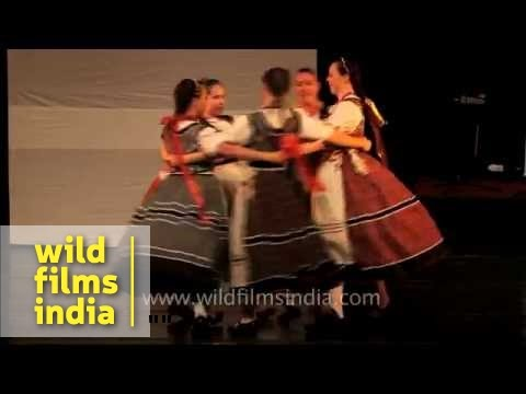 Starry Eyed Dance Ensemble group from Hungary performs in Delhi
