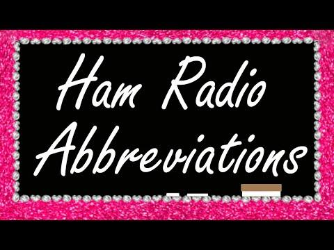 Vlog 7: Ham Radio Abbreviations