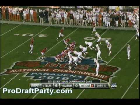 S Earl Thomas Highlights/Lowlights 2009 Texas vs Ok. St./Nebraska/Bama