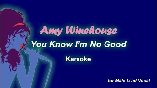 Amy Winehouse - You Know I'm No Good (for Male Vocalist) (Karaoke Video)