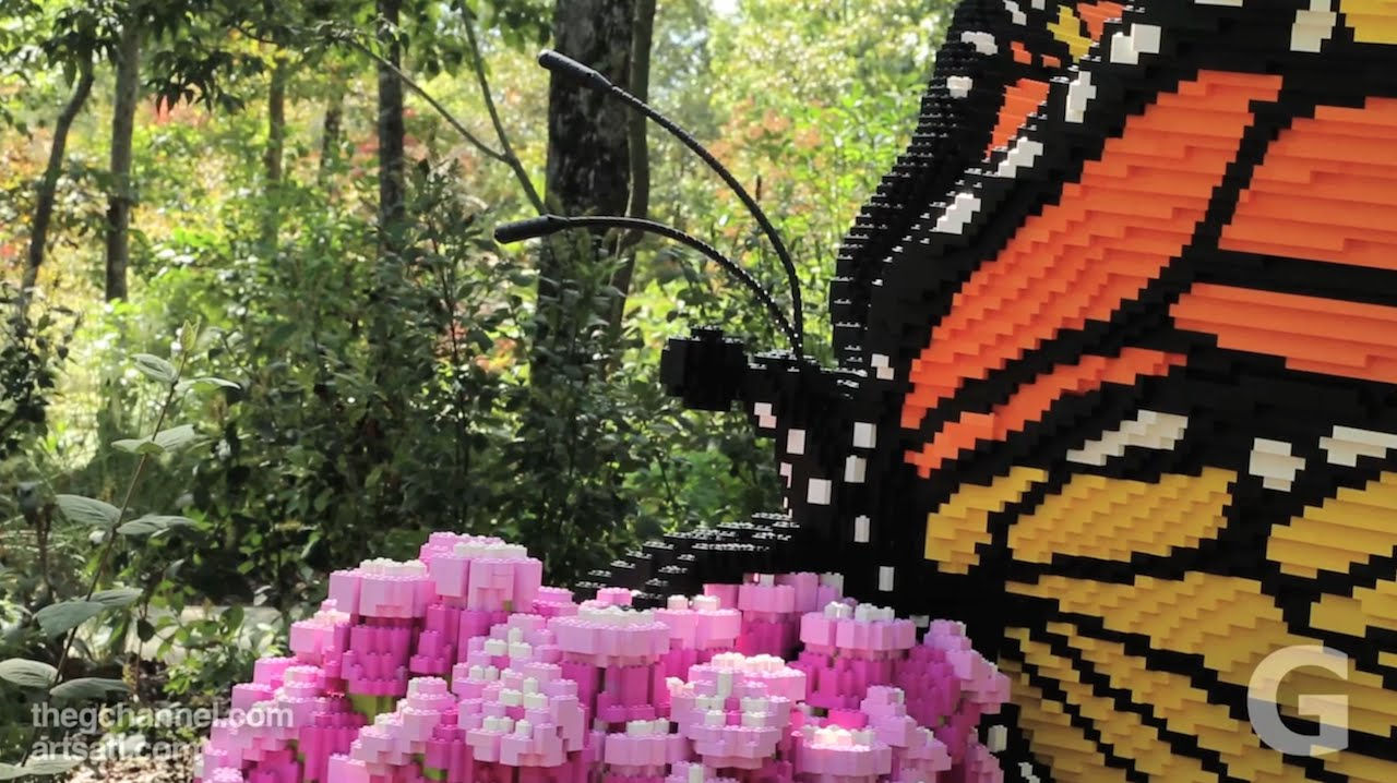 Nature Connects Art With Lego Bricks At The Atlanta Botanical Garden Gainesville Youtube