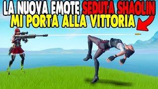 OGNI KILL BALLO LA NUOVA EMOTE SEDUTA SHAOLIN SU FORTNITE GAMEPLAY ITA